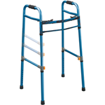 Universal (Adult/Junior) Deluxe Folding Walker, Two Button - 