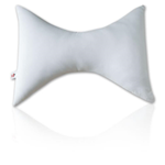 Bowtie Pillow w/Case - With its unique shape and polyester fiber filling, the bowtie pi