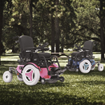 K300 PS JR Front Wheel Power Wheelchair - The K300 PS Junior comes with a standard adult power base, and t