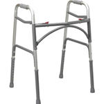 Bariatric Aluminum Folding Walker, Two Button - 