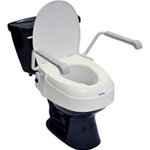 "Aquatec Toilet Seat Riser, 2-6"" with Lid - The Aquatec Toilet Seat Riser is easy to fix and secure with a l"