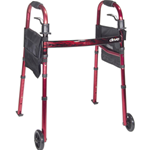 "Portable Folding Travel Walker With 5"" Wheels And Fold Up Legs - Product Description</SPAN"