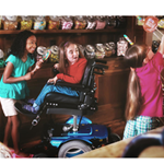 M300 PS JR Mid Wheel Power Wheelchair - The Permobil M300 PS Jr. combines the capabilities of our M300 b
