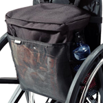 EZ-ACCESSORIES® Wheelchair Pack - Place this large pack with deep pockets behind the wheelchair