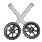 "5"" Universal Walker Wheels with Adjustment Column and Rear Glides - Drive's 5"" universal walker wheels convert folding walkers into"