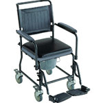 Glide About Commode with Four Locking Casters - Simply toileting and dressing needs with the versatile H720T4 Gl